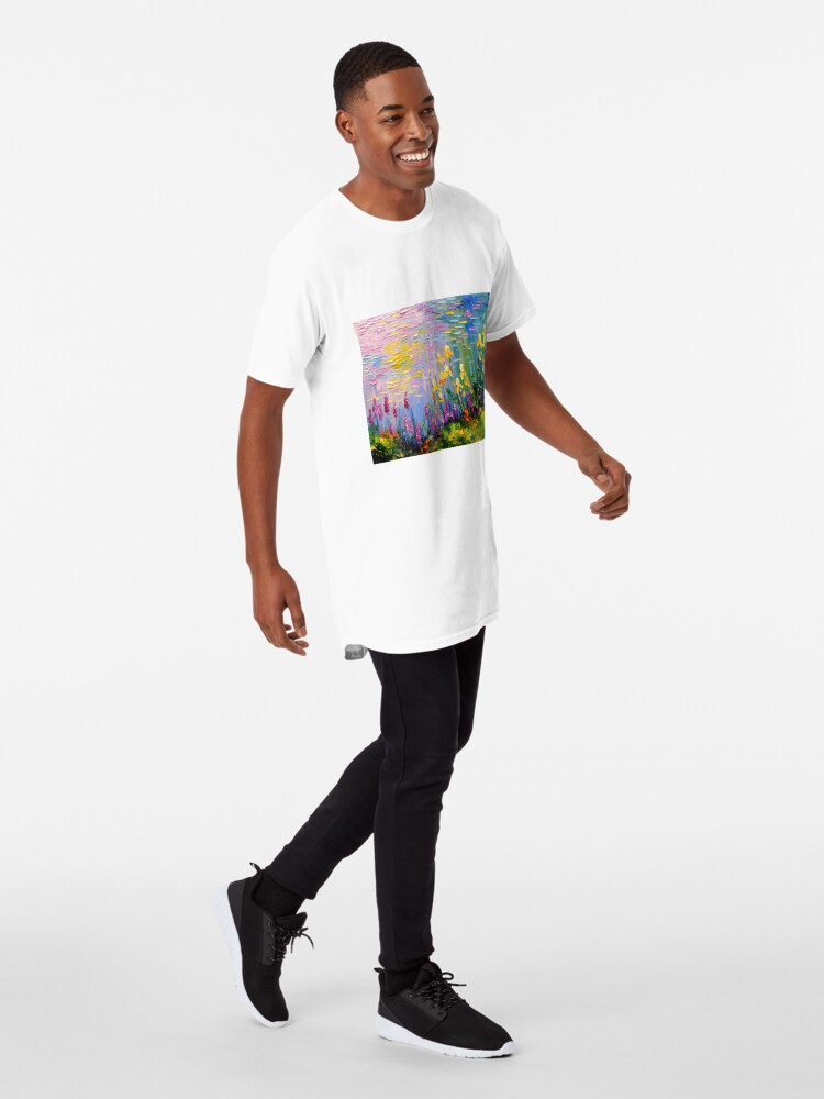 Alternate view of Flowers by the pond Long T-Shirt