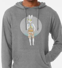 Hipster Hase Leichter Hoodie