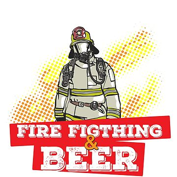 I Love Two Things Fire Fighting & Beer T-shirt by noirty