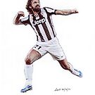 Andrea Pirlo Traditional Pencil Drawing by madebyfrankie