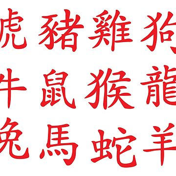 Chinese Zodiac (Red) by TheArtArmature