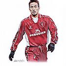 Hidetoshi Nakata Traditional Pencil Drawing by madebyfrankie