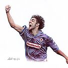 Rui Costa Traditional Pencil Drawing by madebyfrankie