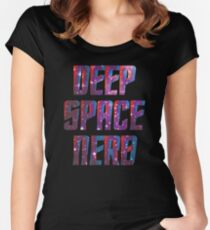 Deep Space Nerd/Deep Space Nine Women's Fitted Scoop T-Shirt