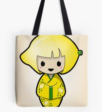 Lemon Kokeshi Doll Tote Bag