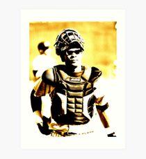 a catcher's look... Art Print