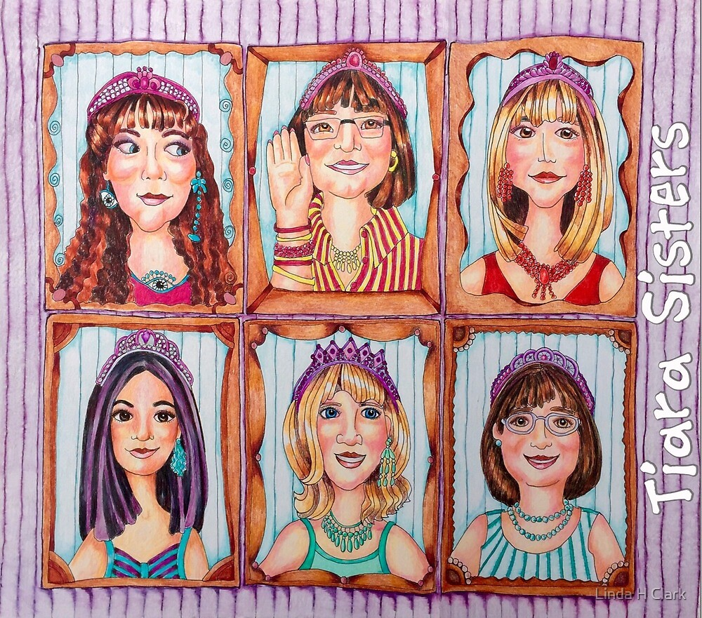 TIARA SISTERS - totebags and other by Linda H Clark