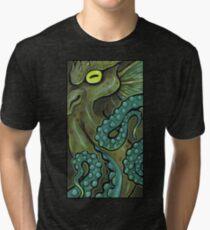 Green Cthulhu Tri-blend T-Shirt