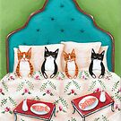 Breakfast in Bed Cats by Ryan Conners