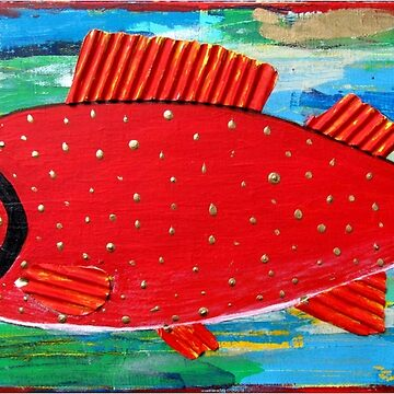 Red Fish by KaylaMillerArt