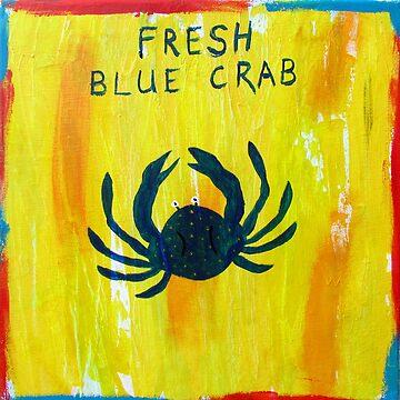 Fresh Blue Crab by KaylaMillerArt