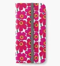 Blumendruck iPhone Flip-Case/Hülle/Klebefolie
