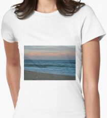 Beach  Fishing Womens Fitted T-Shirt