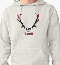 Hannibal - Eat The Rude Bloody Antlers Pullover Hoodie
