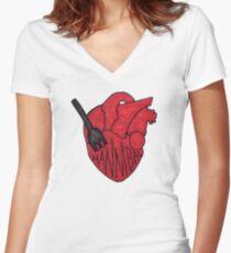 Hannibal - Fork In Heart Women's Fitted V-Neck T-Shirt