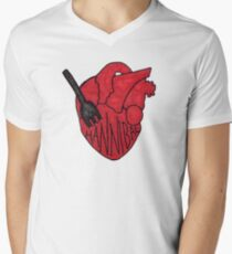 Hannibal - Fork In Heart Men's V-Neck T-Shirt