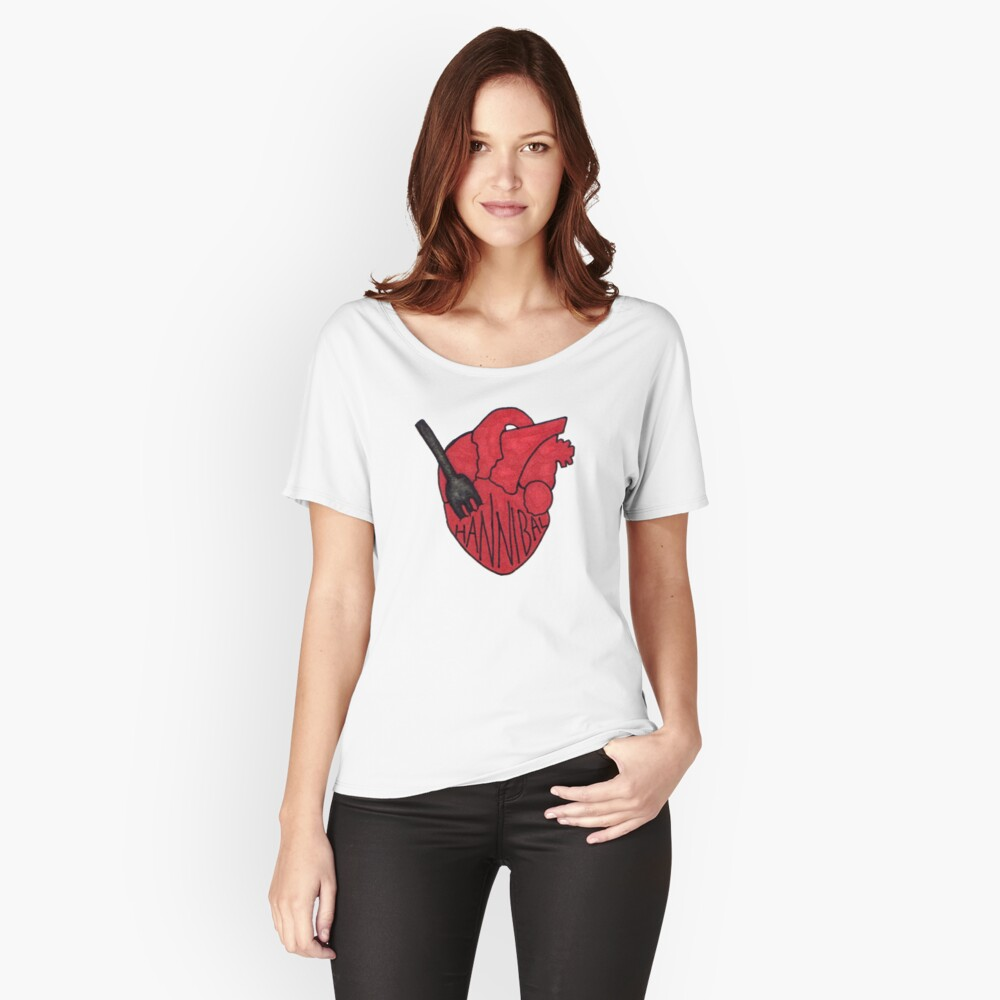Hannibal - Fork In Heart Relaxed Fit T-Shirt
