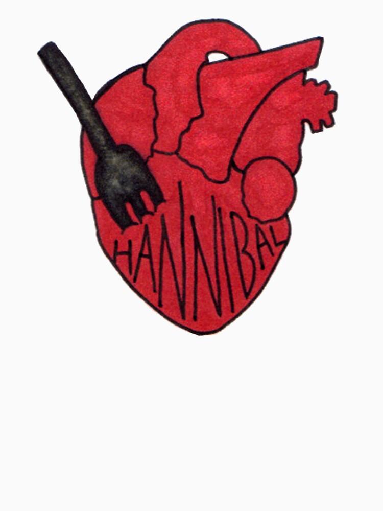 Hannibal - Fork In Heart by Fullerverse