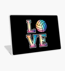 Love Volleyball T-Shirt Low Poly Volleyball Player Gift Tee Laptop Skin