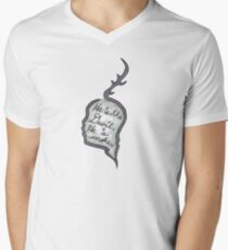 Hannibal - He Is the Devil, He is Smoke Men's V-Neck T-Shirt