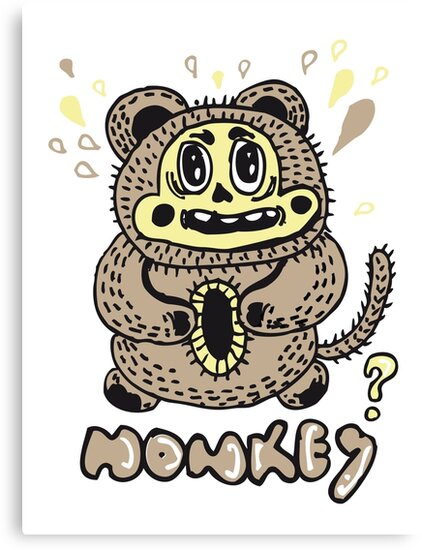 monkey by ecrimaga