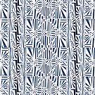 Geometric Paper Pattern - Blue by -Patternation-