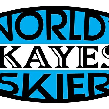 World's Okayest Skier - Blue | Ski Designs | DopeyArt by DopeyArt