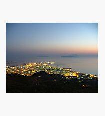 Trapani e le isole Egadi Photographic Print