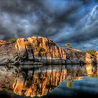 Big Rock Reflect Wide by Bob Larson