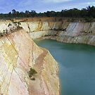 Open cut gold mine by David Smith