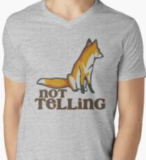 What Does the Fox Say - Ylvis Parody - Fox Say Meme - What the Fox Say - Fox Say - Not Telling Men's V-Neck T-Shirt
