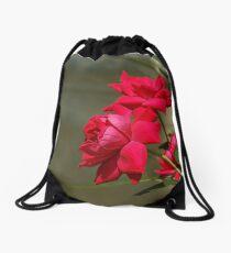 Red Roses Drawstring Bag
