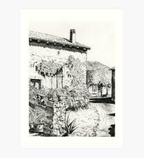 Chez Bourret, France Art Print
