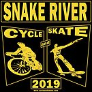 Cycle and Skate Snake River Event Design Gold Only for Dark Shirts – 2019  by strayfoto