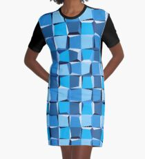 All Squared Away Graphic T-Shirt Dress