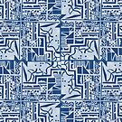 Blue Tile Print by -Patternation-
