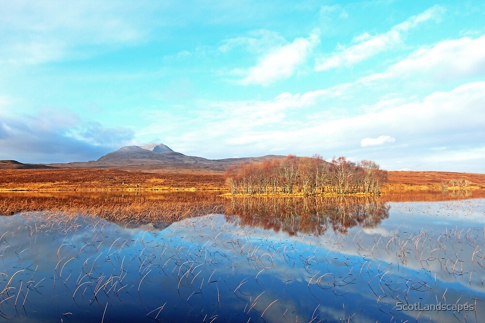 Canisp Reflections Loch Awe (Assynt) by ScotLandscapes