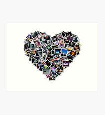 heart collage Art Print