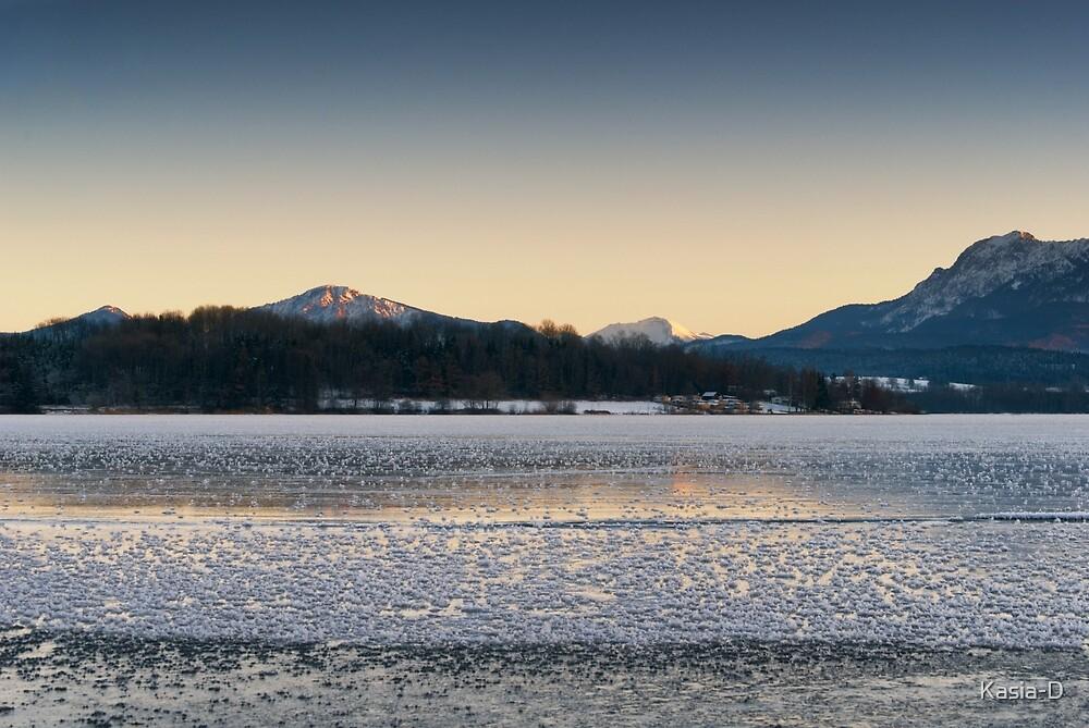 Frozen Mountain Dusk by Kasia-D
