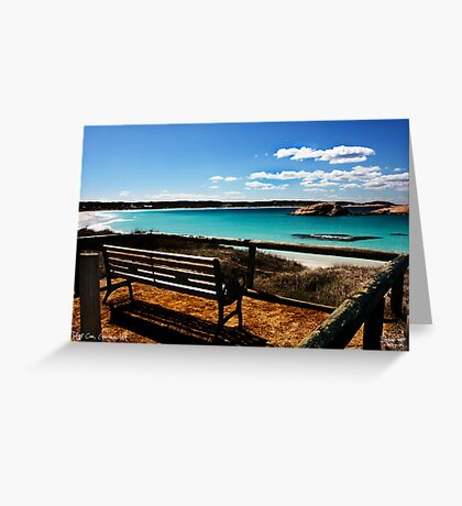 The Bench Greeting Card