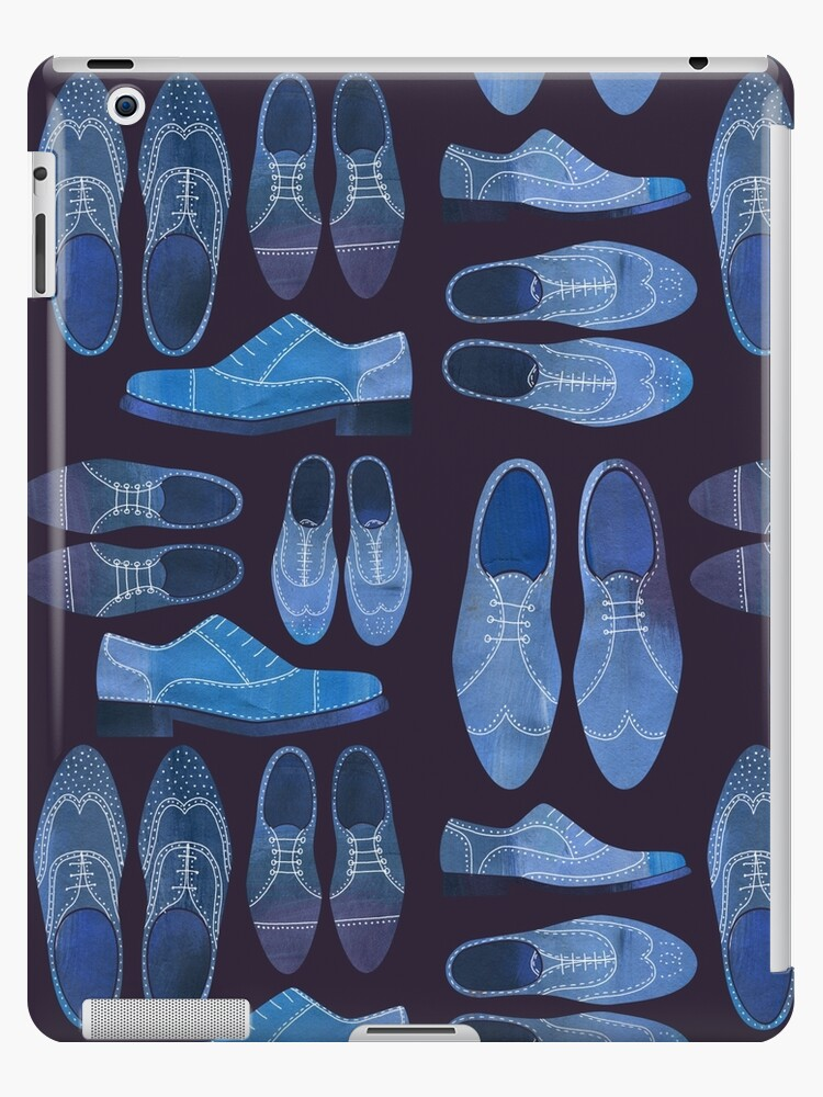 Blue Brogue Shoes for Hipsters and Gentlemen by Nic Squirrell