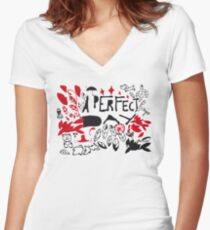 perfect day Women's Fitted V-Neck T-Shirt