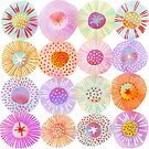 Sorbet Circles Watercolor Geometric by Nic Squirrell