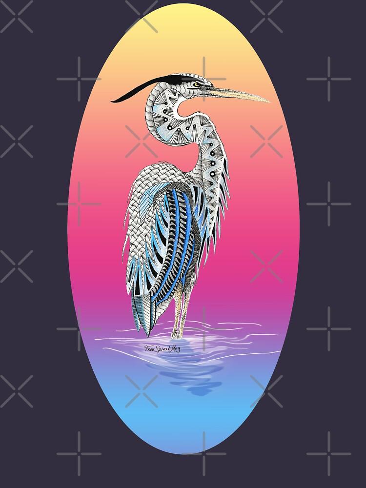 Great Blue Heron Totem by Free-Spirit-Meg