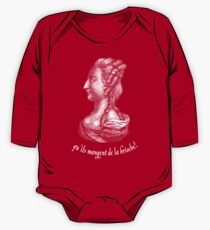 a portrait of famous Queen of France - Marie Antoinette  Long Sleeve Baby One-Piece