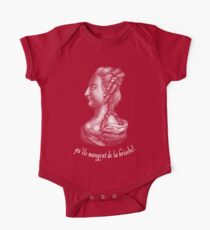 a portrait of famous Queen of France - Marie Antoinette  Short Sleeve Baby One-Piece