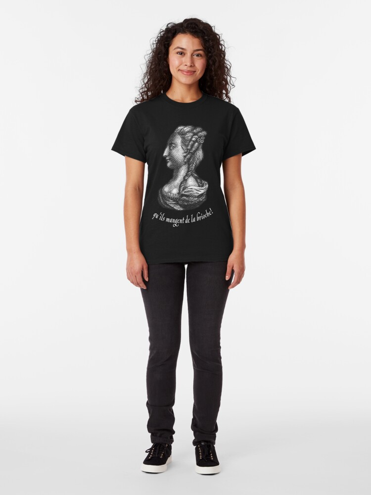 Alternate view of a portrait of famous Queen of France - Marie Antoinette  Classic T-Shirt