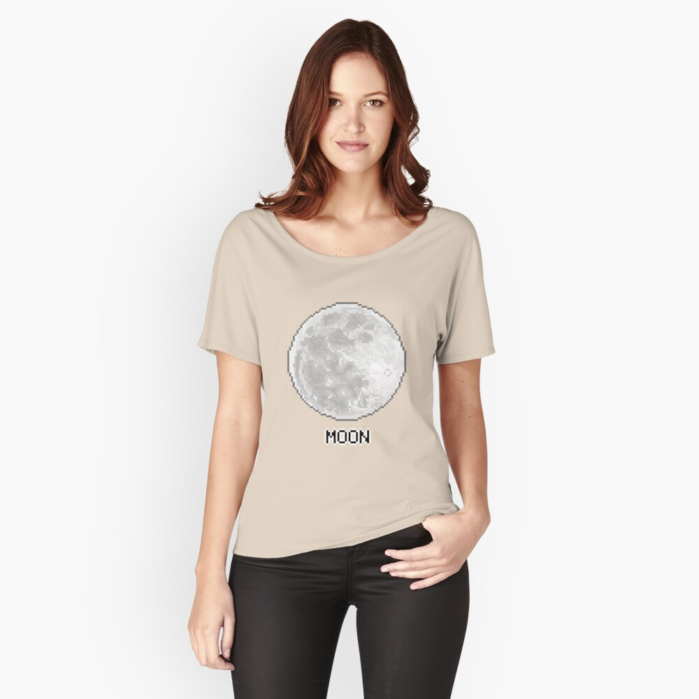 Pixel Planet - The Moon Women's Relaxed Fit T-Shirt Front