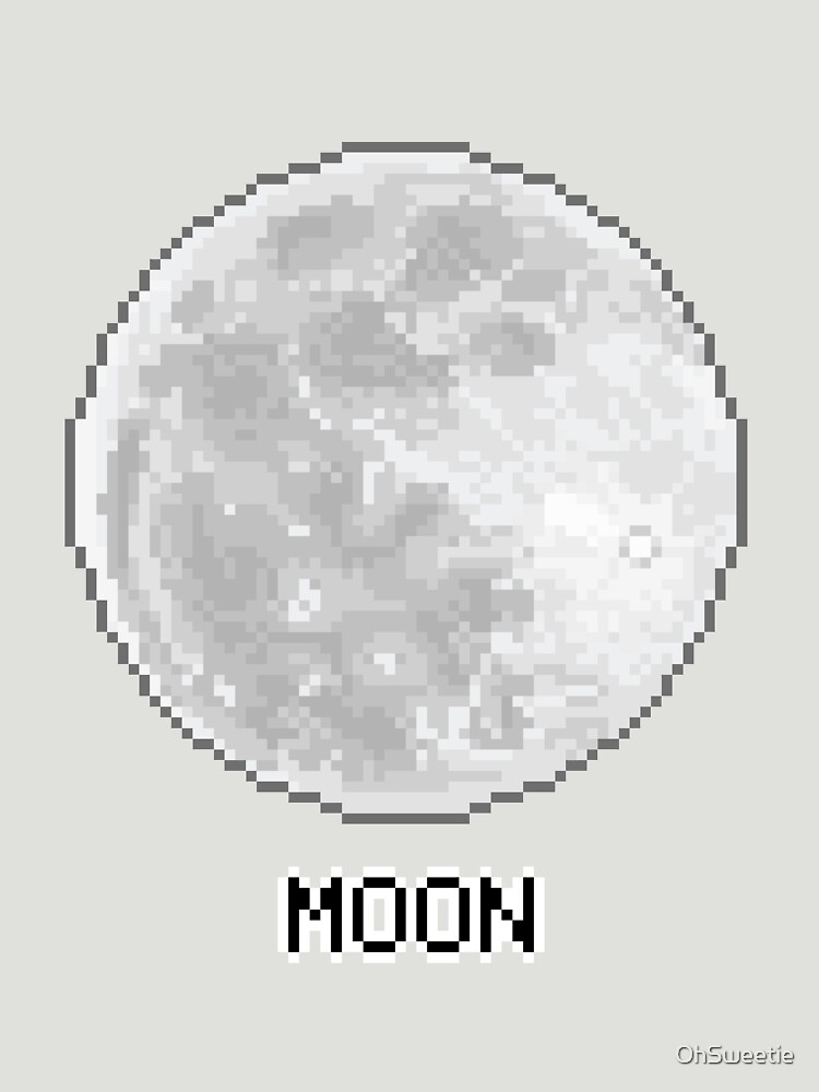 Pixel Planet - The Moon by OhSweetie