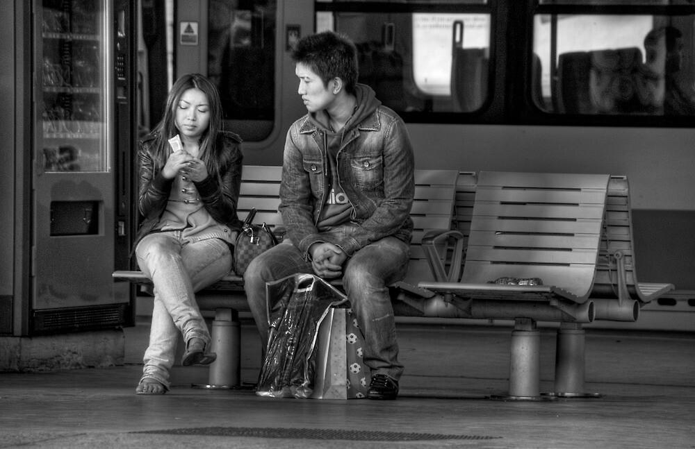 Waiting ... for a train by Sarah  Dawson